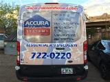 Accura Systems van rear graphics