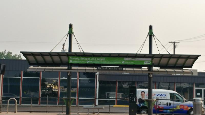 Bell and Funk 6th and Garfield Bus Station Banner