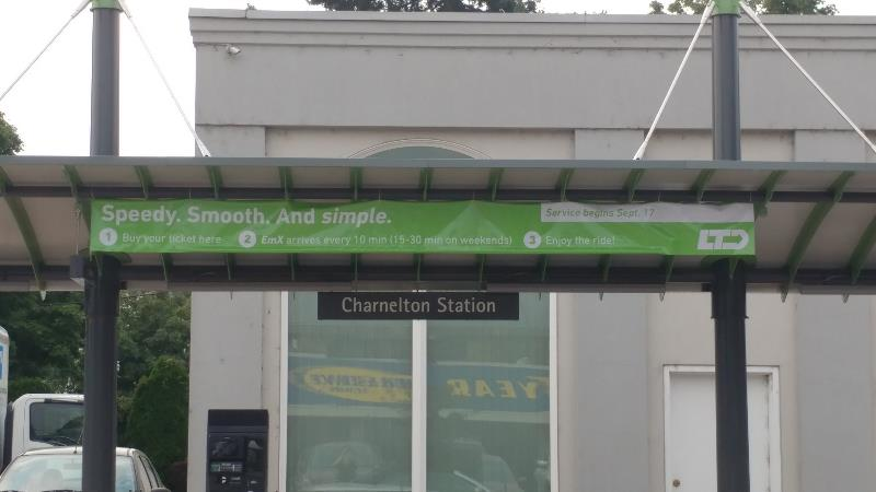 Bell and Funk 7th and Charnleton Bus Station Banner