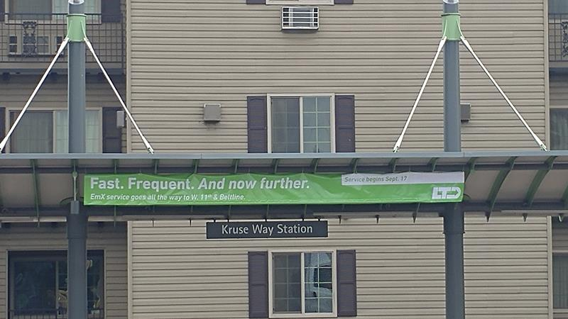 Bell and Funk Kruse Station Bus Station Banner