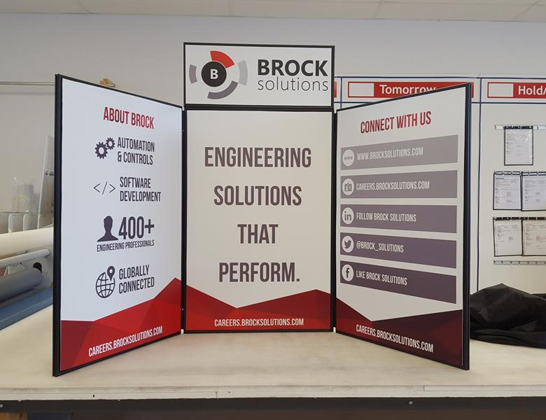 Brock Solutions Table Top Display