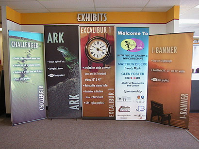 Banner stand trade show displays