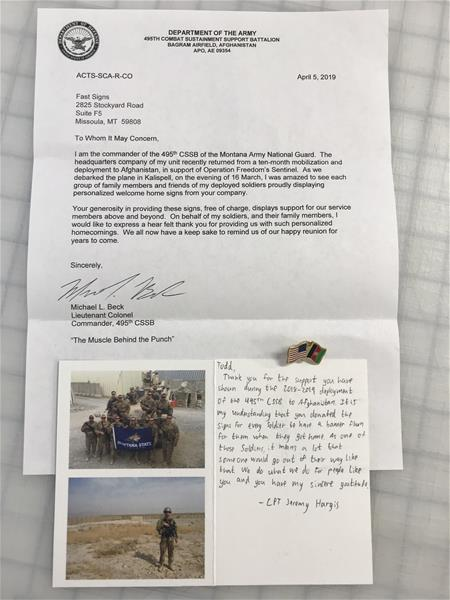 Thank You Letter for Military Appreciation Month