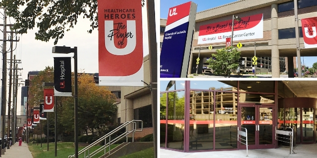 UofL Hospital outdoor custom signage