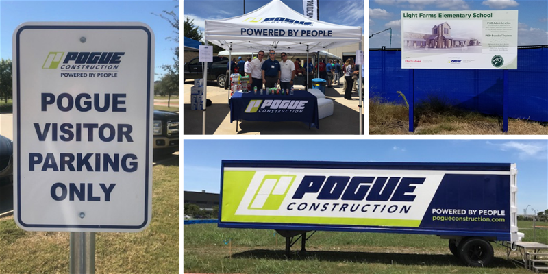 updated construction signage and marketing materials