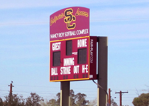 Salpointe Catholic High School, sports signage scoreboard