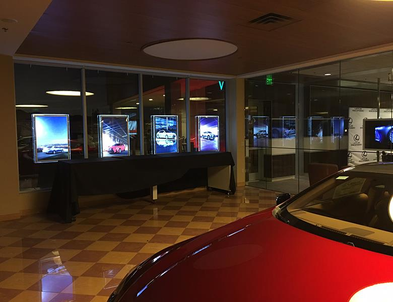Illuminated Framed Dealership Displays