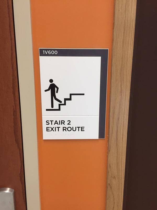 ADA Braille Stair Signage