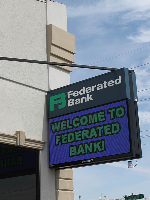 Federated Bank Digital Sign