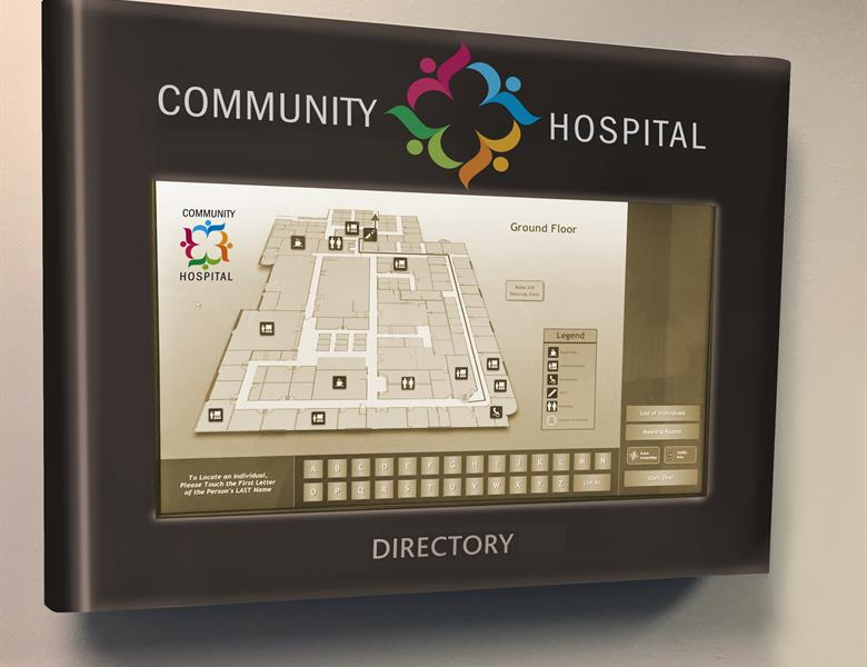 Community Hospital Digital Map