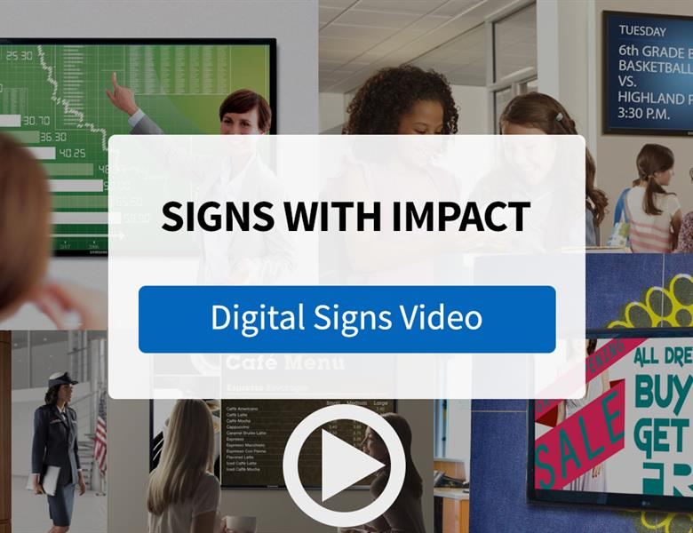 Get Attention with Digital Signage Displays and Content from FASTSIGNS - Video