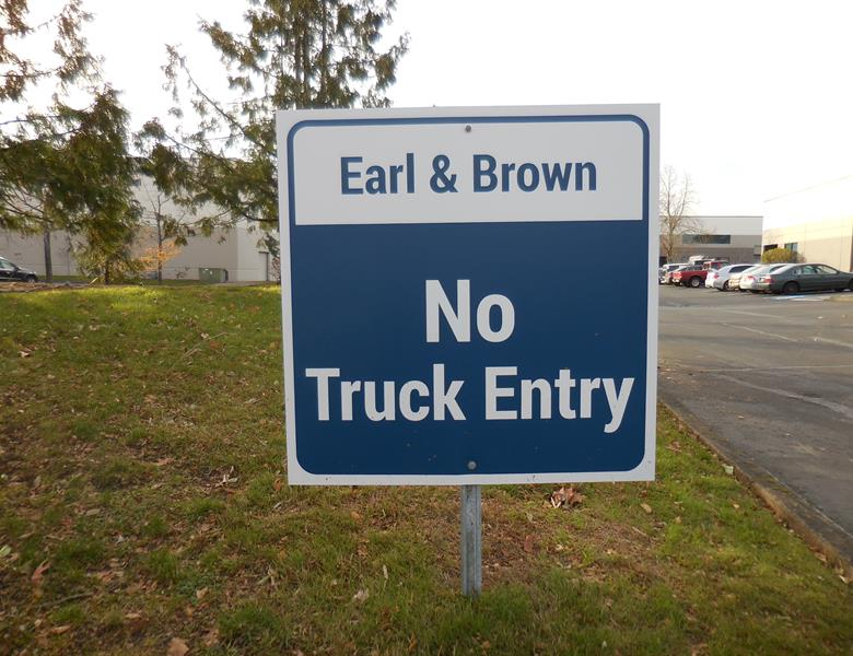 No Truck Entry Signs