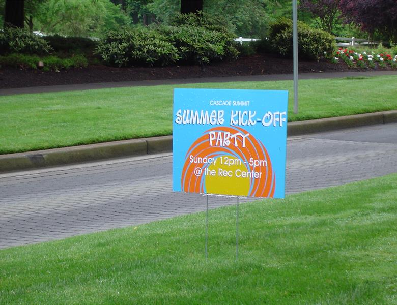 Party Yard Signs